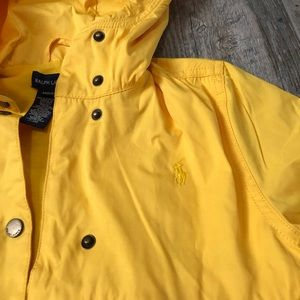 Ralph Lauren Yellow Puff Raincoat M 8/10